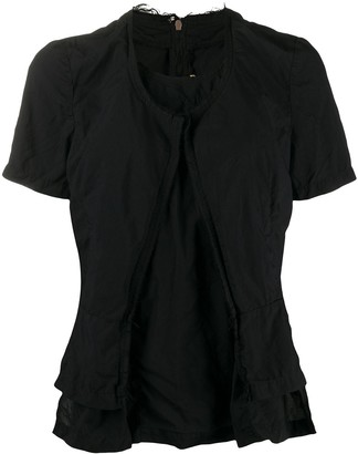 Comme des Garcons Double-Layered Raw-Edge Top