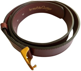 Cartier Burgundy Patent leather Belts