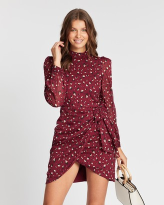 Atmos & Here Izabelle Ruched Mini Dress