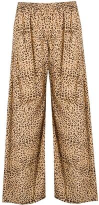 Mes Demoiselles Leopard Print Palazzo Trousers