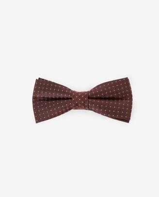 The Kooples Silk burgundy bow tie with diamond motif