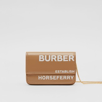 Burberry Horseferry Print Card Case with Chain Strap