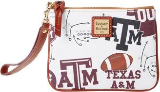 Dooney & Bourke NCAA Texas A&M Stadium Wristlet