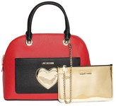 Love Moschino Colorblock Heart Emblem Handbag