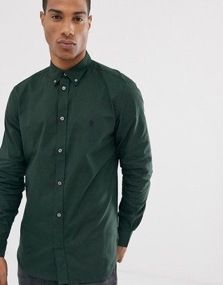 French Connection oxford button down logo shirt
