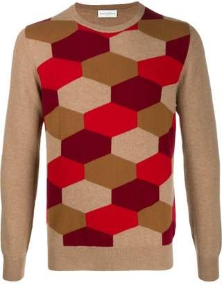 Ballantyne honeycomb pattern jumper