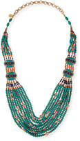 Devon Leigh Turquoise & Coral Long Beaded Necklace, 38""