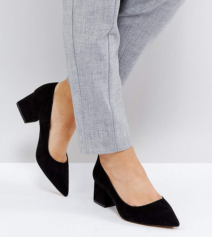 Asos Design SIMPLY Wide Fit Block Mid Heels