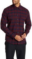 Toscano Regular Fit Button Front Plaid Shirt