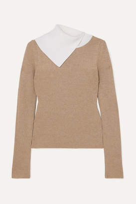 See by Chloe Two-tone Ribbed Wool Sweater - Beige