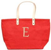 Cathy's Concepts 'Nantucket' Monogram Jute Tote - Red