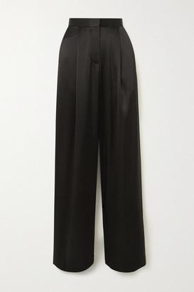 Matteau Satin Wide-leg Pants - Black