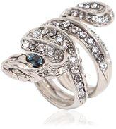 Roberto Cavalli Viper Swarovski Embellished Ring