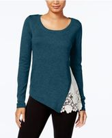 Kensie Lace-Trim Sweater