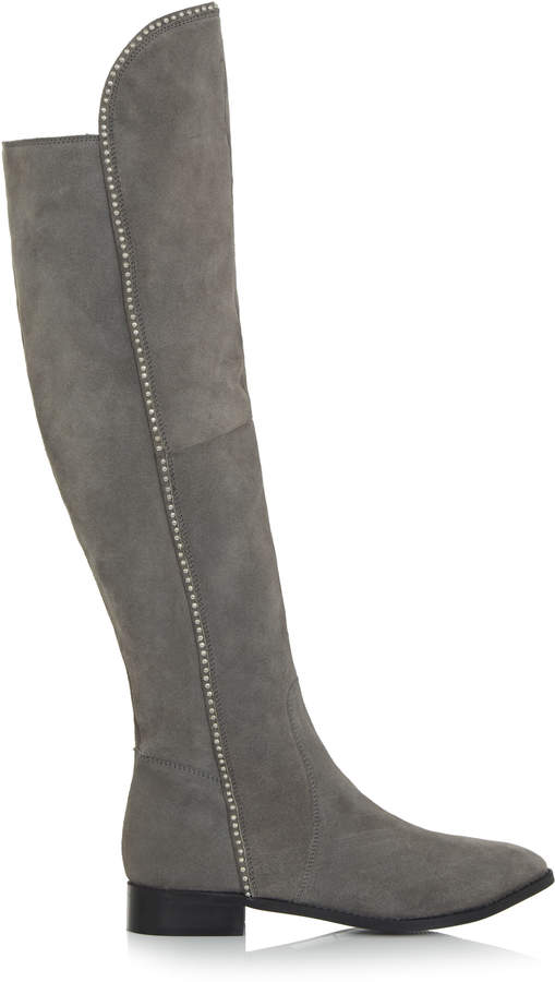 7786eb373e1 Long Tall Sally LTS Dulcie Stud Detail Suede Knee Boot
