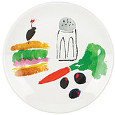 Kate Spade All in Good Taste Sandwich Art Stoneware Coupe Accent Salad Plate