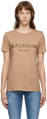 Balmain Beige Three-Button T-Shirt