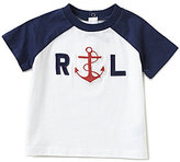 Ralph Lauren Baby Boys 3-24 Months Nautical Short-Sleeve Anchor-Embroidered Tee