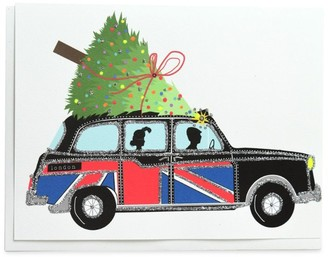 Verrier London Holiday Taxi Christmas Card