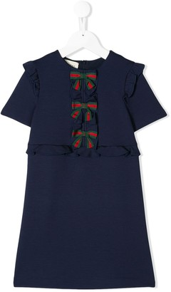Gucci Kids Web bow front dress