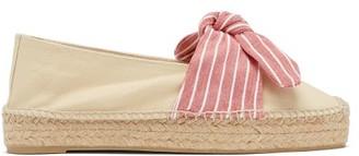 Castaner Kay Bow-tie Canvas Espadrilles - Pink White