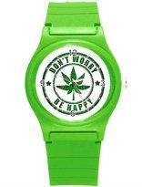 """Kidozooo Boys Girls Rastaman Stamp 1 3/8"""" Diameter Plastic Watch"""