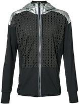 Diesel mesh and metallic panel hoodie - men - Nylon/Polyester/Spandex/Elastane - S