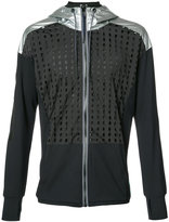 Diesel mesh and metallic panel hoodie