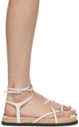 3.1 Phillip Lim White Yasmine Strappy Espadrille Sandals