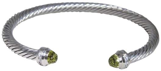 David Yurman Sterling Silver with Lemon, Citrine & Diamond Bracelet
