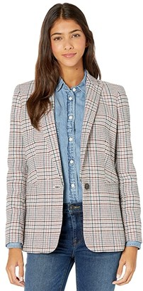 J.Crew Parke Blazer in Perfect Pattern Wool (Ivory/Coral Multi) Women's Jacket