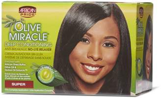 African Pride Olive Miracle Deep Conditioning No Lye Super Relaxer System