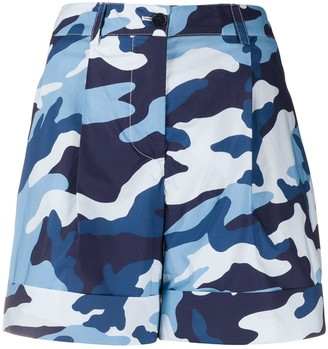 P.A.R.O.S.H. Camouflage-Print Chino Shorts