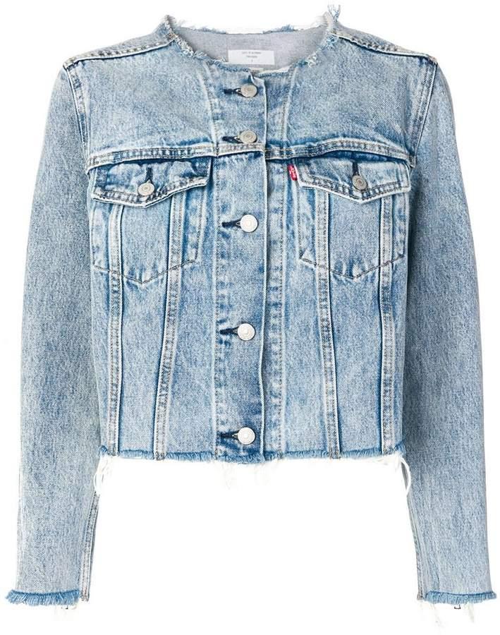 Levi's collarless denim jacket