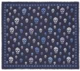 Alexander McQueen Bicolour skull silk-modal scarf