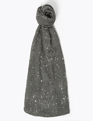 Marks and Spencer Star Foil Printed Scarf
