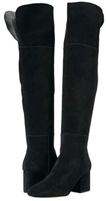 J.Crew Suede Over the Knee Maya Boot (Black) Women's Shoes