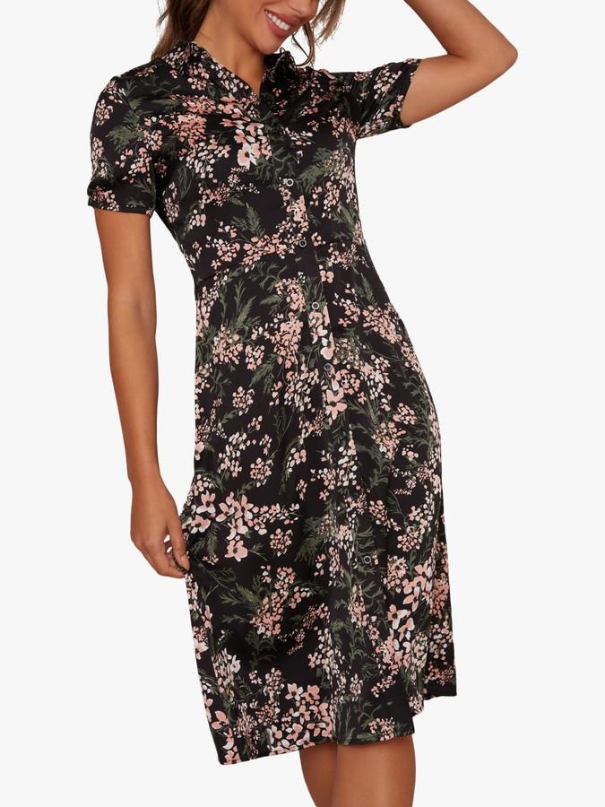 Chi Chi London Floribeth Floral Dress, Black/Multi