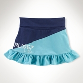 Diagonal-Pieced Skirt