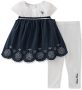 Calvin Klein 2-Pc. Chambray Tunic & Capri Leggings Set, Baby Girls (0-24 Months)