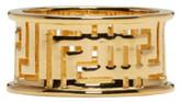 Versace Gold Large Greek Ring