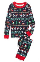 Hanna Andersson Family Gnome Fair Isle Organic Cotton Fitted Two-Piece Pajamas