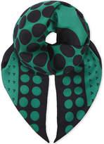 Diane von Furstenberg Brunel spotted silk scarf