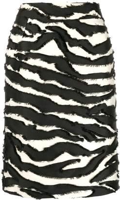 Oscar de la Renta Zebra print skirt