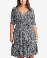 Lauren Ralph Lauren Plus Size Printed Surplice Dress