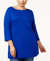 Karen Scott Plus Size Cotton Tunic, Created for Macy's