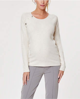 Stowaway Collection Maternity Raglan and Nursing Sweater