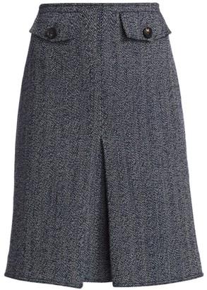 Victoria Beckham Mini Box Pleat Skirt