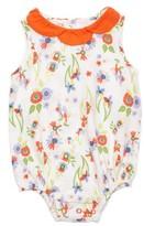 Margherita Infant Girl's Floral Print Bubble Bodysuit