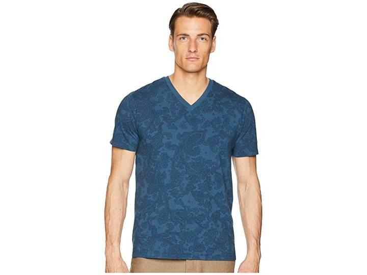 Etro Faded Paisley V-Neck T-Shirt Men's T Shirt